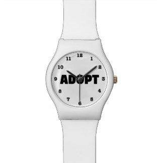 Adoptieren Sie Rettungs-Hund nummerierte Armbanduhr