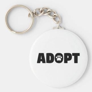 Adoptieren Sie Rettungs-Hundeknopf Keychain Schlüsselanhänger