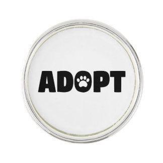 Adoptieren Sie Rettungs-Hunderevers-Button Anstecknadel