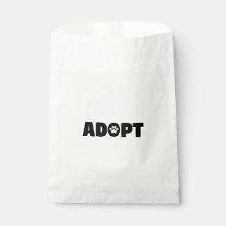 Adoptieren Sie Tatzen-Druck-Bevorzugungs-Tasche Geschenktütchen