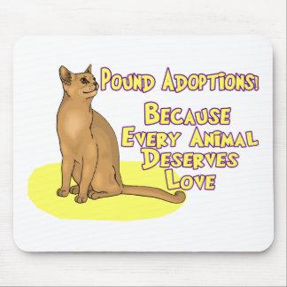 Adoptieren Sie vom Pfund Mousepad