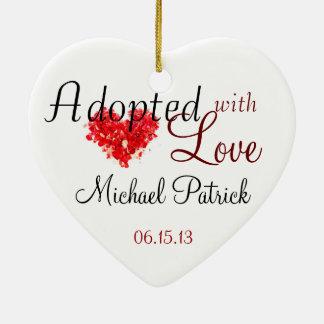 Adoptiert mit Liebe-Adoptions-Verzierung Keramik Ornament