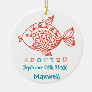 Adoptiert von den Pflegesorgfalt-Fischen - Keramik Ornament