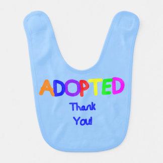 adoptiertes Blau dankt Ihnen Babylätzchen