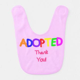 Adoptiertes Rosa danken Ihnen Lätzchen