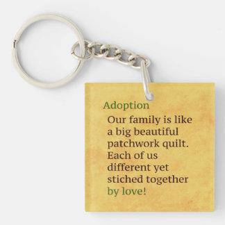 Adoption ist ein Patchwork Schlüsselanhänger
