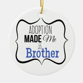 Adoption machte mich einen Bruder Rundes Keramik Ornament