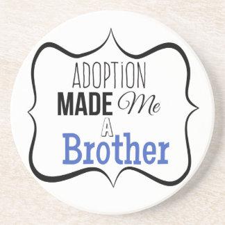 Adoption machte mich einen Bruder Sandstein Untersetzer
