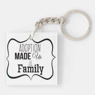 Adoption machte uns eine Familie Schlüsselanhänger