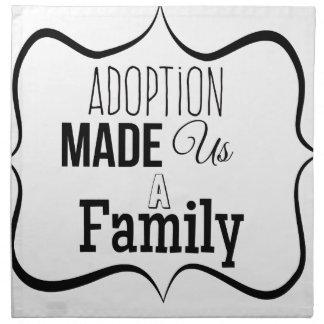 Adoption machte uns eine Familie Serviette