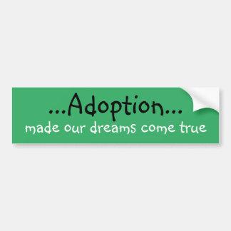 Adoptions-Autoaufkleber Autoaufkleber