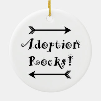 Adoptions-Felsen! Keramik Ornament