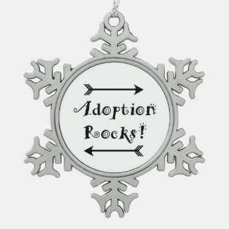 Adoptions-Felsen! Schneeflocken Zinn-Ornament