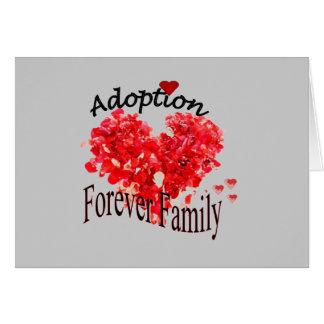 Adoptions-für immer Familien-Karte Karte