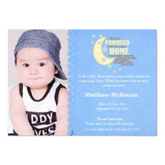 Adoptions-Jungen-Mitteilung 12,7 X 17,8 Cm Einladungskarte