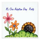 AdoptionstagesParty Einladung Quadratische 13,3 Cm Einladungskarte