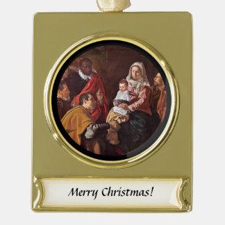 Adoración de Los Reyes Banner-Ornament Gold