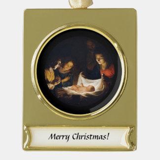 Adorazione Del Bambino Adoration des Kindes Banner-Ornament Gold