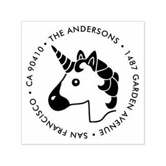 Adressen-Briefmarke, Unicorn emoji Briefmarke Permastempel
