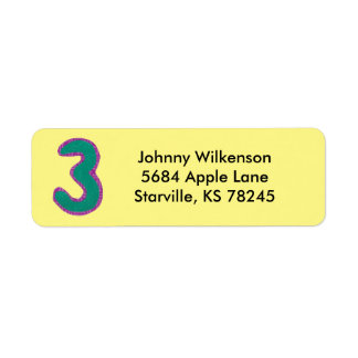 Adressen-Etikett der Nr.-3 Rücksendeetikett