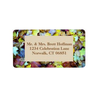 Adressen-Etikett für Herbstlaub-Sammlung Adressaufkleber