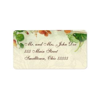 Adressen-Etikett Vorlagen mit Blumen Adressaufkleber