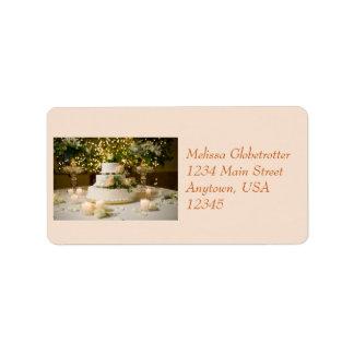 Adressen-Etikett--Weddding Kuchen Adressaufkleber