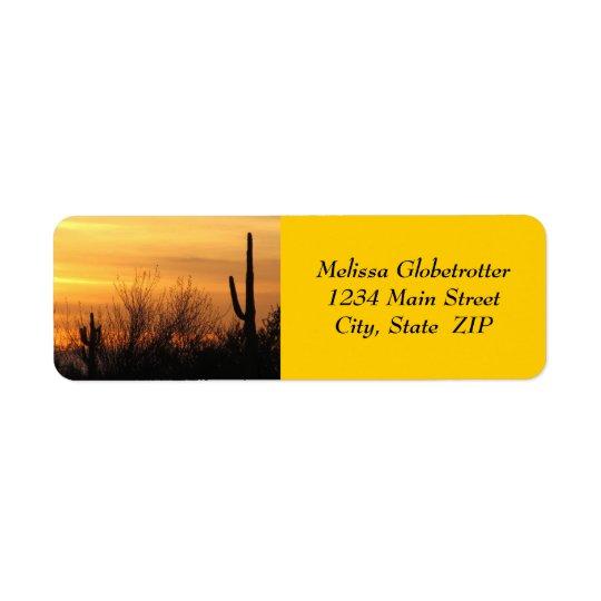 Adressen-Etiketten--Arizona Sunset-3 Rücksendeetikett