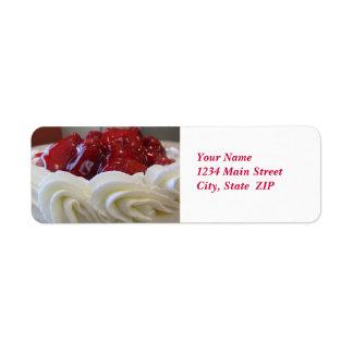 Adressen-Etiketten--Erdbeerkuchen