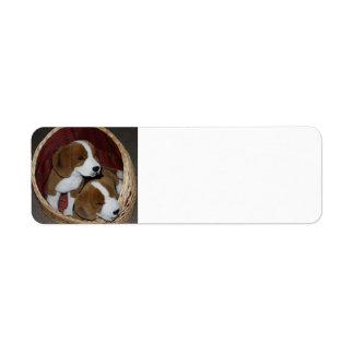 Adressen-Etiketten - Hundeliebhaber Rückversand-Adressaufkleber