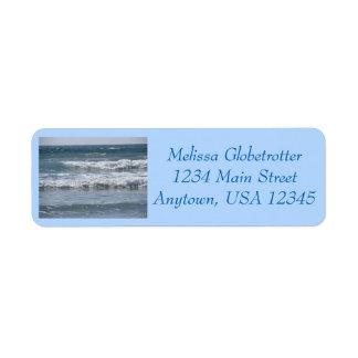 Adressen-Etiketten--Mehrfache Wellen