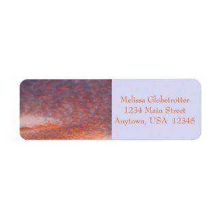 Adressen-Etiketten--Sonnenuntergang-Wolken