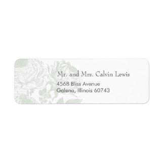 Adressen-Etiketten Vintage Rosen-Pastelle: Rücksende Aufkleber