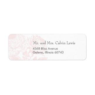 Adressen-Etiketten Vintage Rosen-Pastelle: Rücksendeetikett