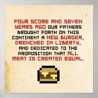 Adressen-Plakat Pixel-Lincolns Gettysburger