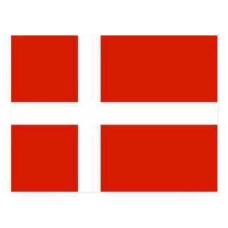 Adressenänderung, dänische Flagge, Dannebrog Postkarte