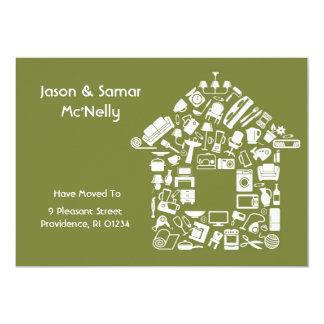 Adressenänderung flache Karten-Mitteilung 12,7 X 17,8 Cm Einladungskarte