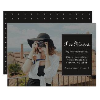 Adressenänderung Foto und hübsche Punkte 12,7 X 17,8 Cm Einladungskarte
