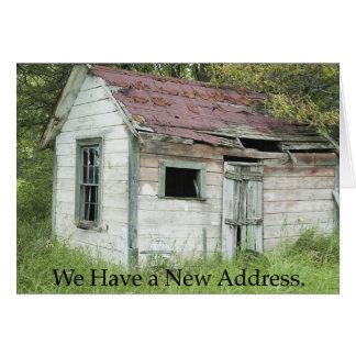 Adressenänderung: Großer Standort Grußkarte