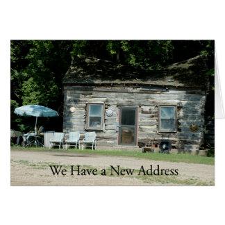 Adressenänderung Karte: Blockhaus Grußkarte