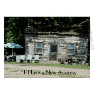 Adressenänderung Karte: Blockhaus Mitteilungskarte