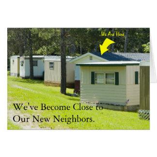 Adressenänderung Karte: Nahe Nachbarn Grußkarte