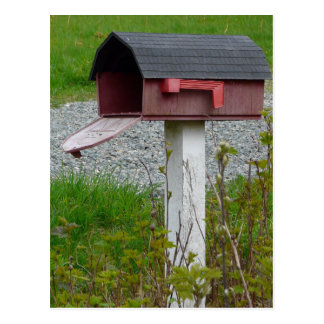 Adressenänderung ländlichen Land-Briefkasten Postkarte