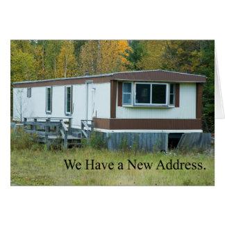 Adressenänderung: Mobil-Zuhause Grußkarte
