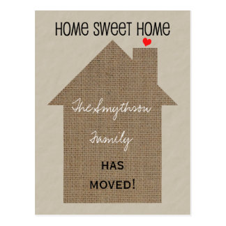 Adressenänderung Postkarte - Leinwand-Haus