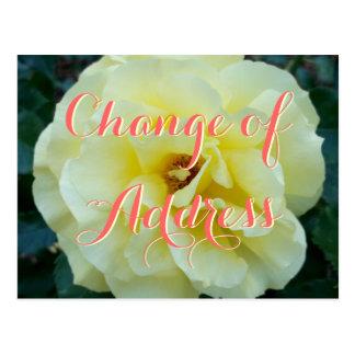 Adressenänderung Postkarte mit Rosen-Blumen-Foto