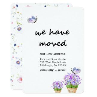Adressenänderung rustikales Blumen mit 12,7 X 17,8 Cm Einladungskarte