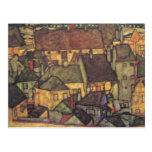 Adressenänderung - Schiele gelbe CIty, 1914 Postkarten