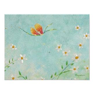 Adressenänderung Schmetterlingskarte 10,8 X 14 Cm Einladungskarte