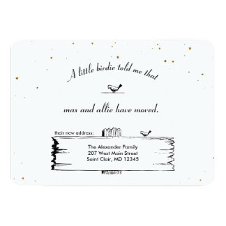 Adressenänderung Wegweiser-Vögel mit Sternen 12,7 X 17,8 Cm Einladungskarte
